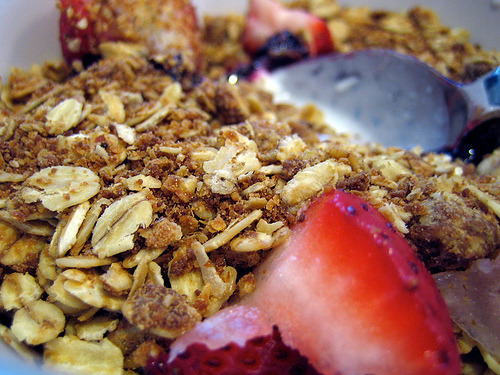 Peanut Butter Granola (via you can count on me)