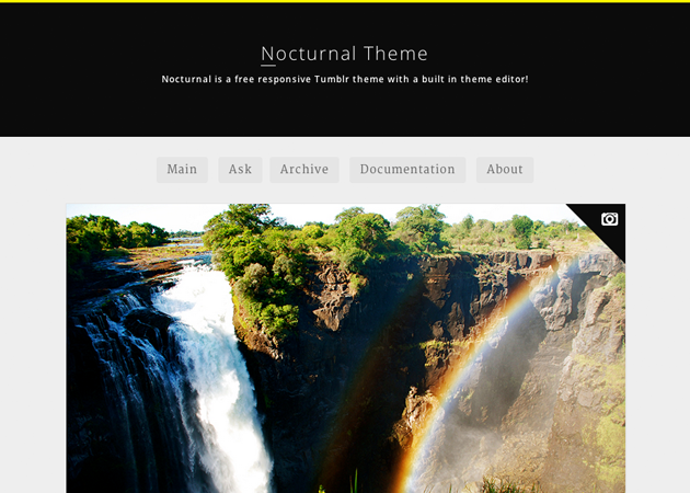 Nocturnal tumblr theme