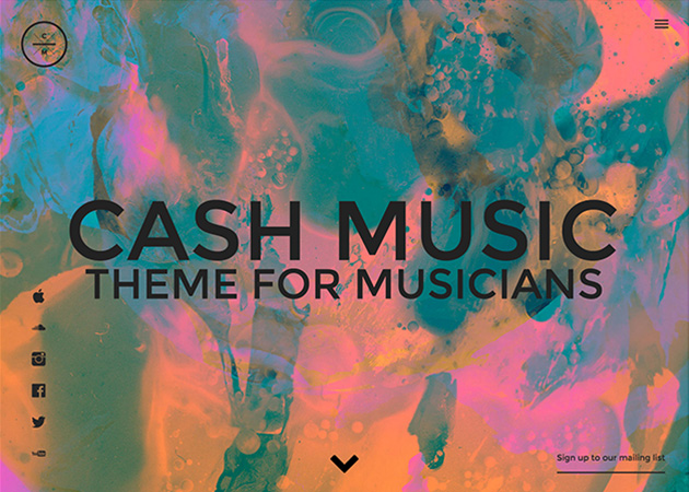 Cash Music Template For Musicians Tumblr