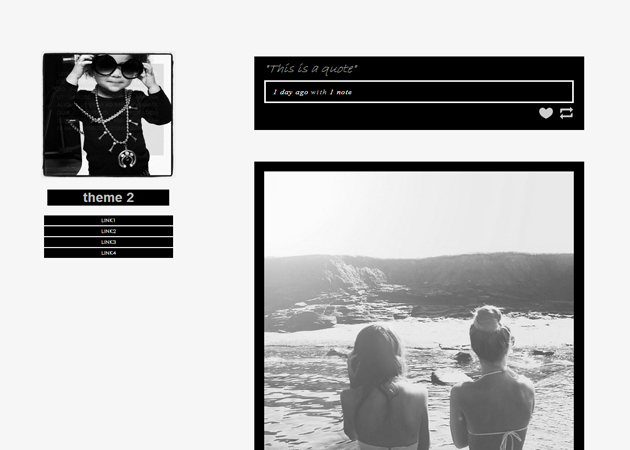 Black and white tumblr Black and white themes for tumblr
