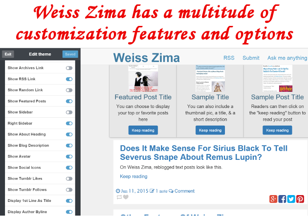 Weiss Zima Tumblr theme made by Freya Yuki