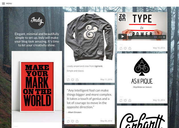 Popular Free Themes | Tumblr