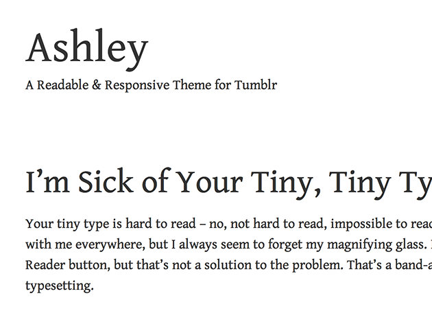ashly tumblr theme