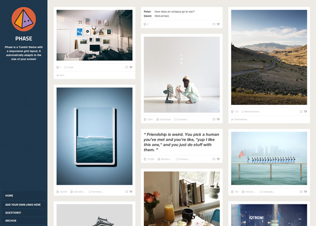Make a portfolio | Themes | Tumblr