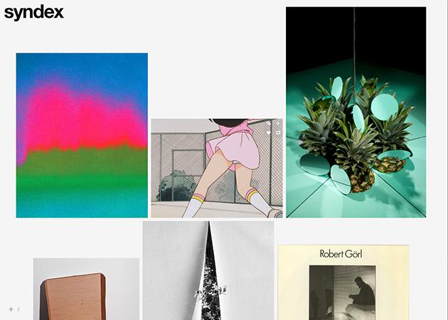 Syndex: White Tumblr Grid Theme