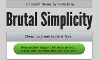 Tema para Tumblr Brutal Simplicity