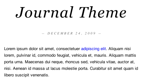 Journal Theme