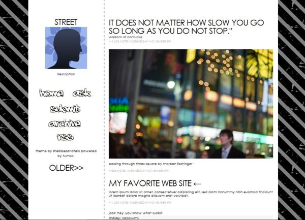 Street w/ cursor