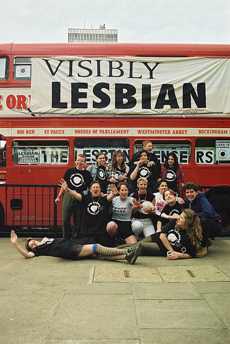 London Lesbian Avengers Visibility Day 95 (via sered)