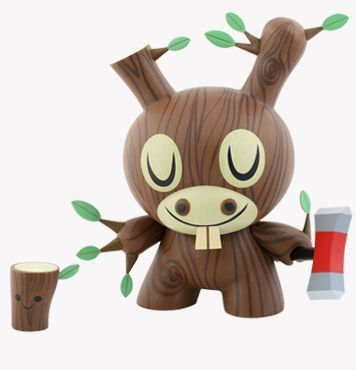 karenh: coming August 20th: Kidrobot's Wood Donkey Dunny, artist Amanda Vissell