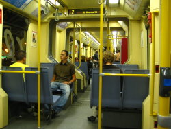 one of our many trips in the tram around Koln.