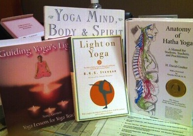 YAY!!!!!  I just received 4 of my yoga books in the mail!  Wooooo!!!  Now….it's time to get reading!