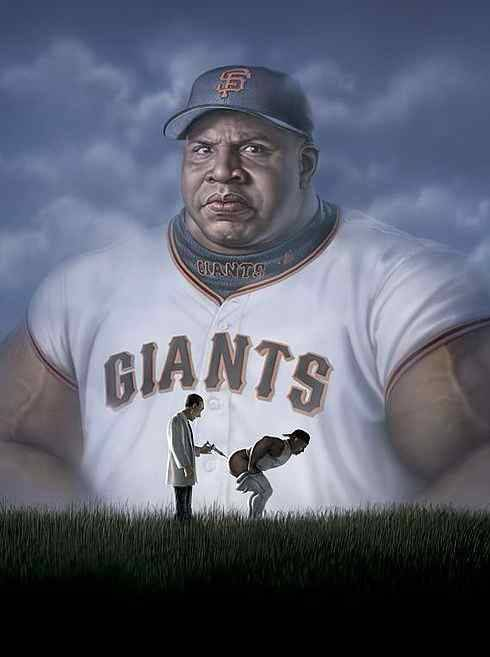 Barry Bonds + steroids = art