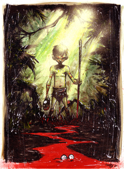aquabooks:  libraryland:  liquidnight:  nevver: Lord of the Flies, Skottie Young