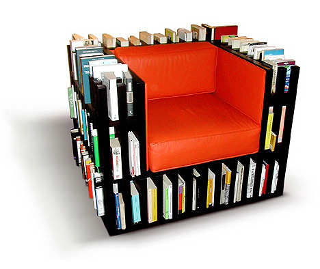 natahn: the bibliochaise I want this chair. If I had this I would never move not to mention it's artsy as shit.