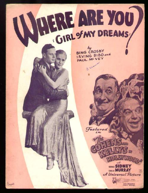 Where Are You Girl of My Dreams? 1932. (via)