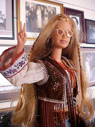 1970s Peace and Love Barbie.