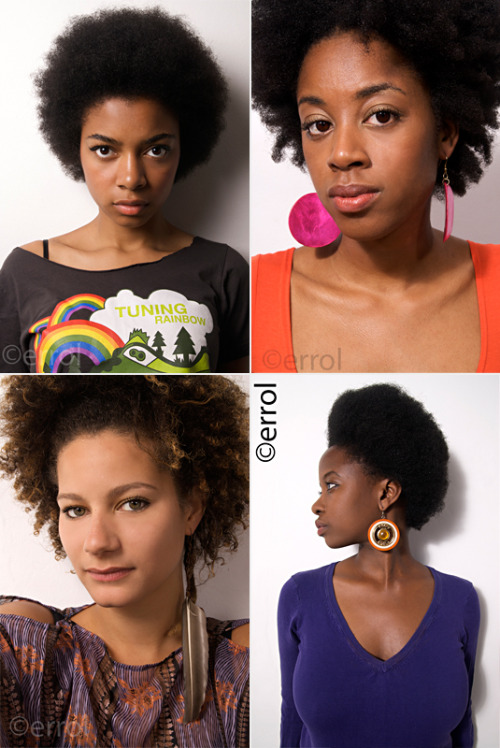 "London based photographer Errol's ""Do You Have an Afro"" series is a must see! In his own words: ""Recently I have decided to set up an ongoing photo project portraiting Afro-headed people. I placed an ad on the Internet and some of the people who responded were invited to stand in front of my camera. The following portraits display their individuality, style and character."" (Thanks to Chai for the heads up!)"