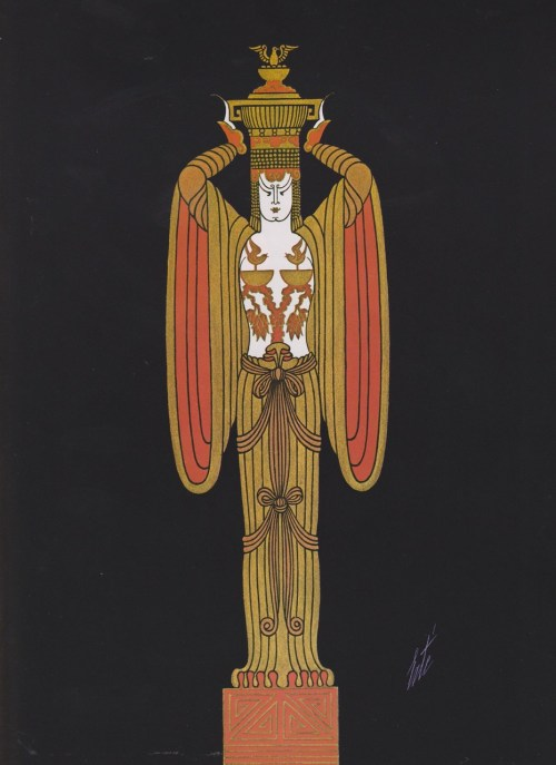 Erté, Gift-bearer (costume for the Folies Bergère)