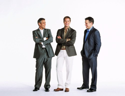 George Clooney, Brad Pitt, and Matt Damon