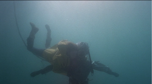 movieoftheday: LA ESCAFANDRA Y LA MARIPOSA  Jean-Do: My diving bell drags you down to the bottom of the ocean. Claude: I don't mind you dragging me to the bottom of the ocean, because you're also my butterfly.