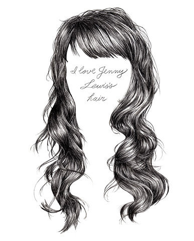 """I love Jenny Lewis's hair"" graphite illustration by Ninja vs Penguin // dahliathefool:(via ultrapearl)"