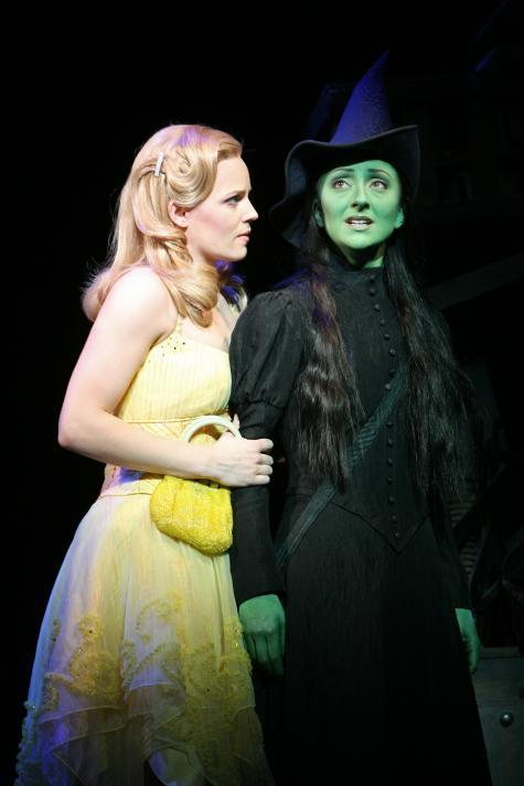 wickedinpix:  Katie Rose Clarke (Glinda) and Carmen Cusack (Elphaba) in the First National Tour.