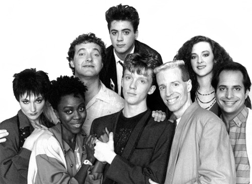 waxandmilk:  The SNL Cast That Time Forgot1985 L to R (starting from the top): Robert Downey Jr., Randy Quaid, Joan Cusack, Nora Dunn, Danitra Vance, Anthony Michael Hall, Terry Sweeney, Jon Lovitz (not pictured: Damon Wayans and Al Franken)