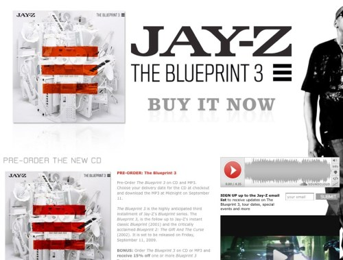 SoundCloud spotted on the official Jay-Z website on the preorder page for his new album The Blueprint. Check it out here.