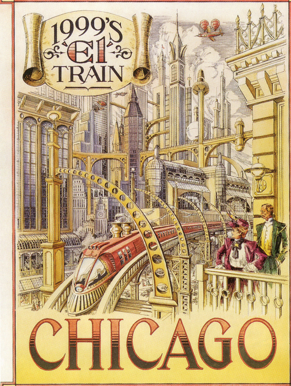 """1999's 'El' Train"" - Chicago  from retro_futurism  via hungryghoast"