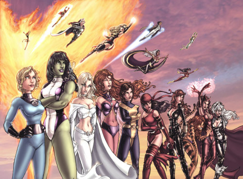 Women of Marvel by Comfort Love
