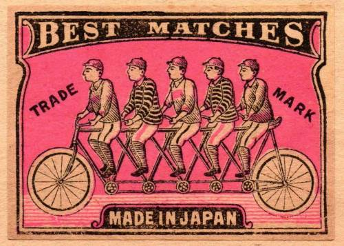 Japanese matchbook label, 1910. (via)