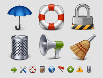 Buz from IconDrawer has redrawn and upsized his ubiquitous Classic Icons series to 512×512. The new set is slightly smaller than its predecessor, but includes a couple of notable beauties: the new cart icon in particular is gorgeous. Purchased.