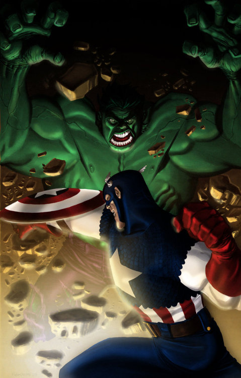 Hulk vs. Captain America by Chris Stevens and John-Paul Bove