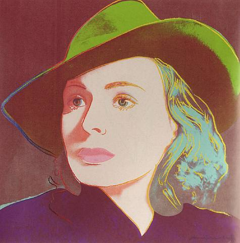 Ingrid Bergman Hat By Andy Warhol     {Ingrid Bergman}