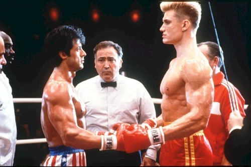 My name is Drago. I'm a fighter from the Soviet Union. I fight all my life and I never lose. soon I fight Rocky Balboa, and the world will see his defeat. Soon, the whole world will know my name. The fantastic thing about the 80's was that the premise of Rocky IV was completely plausible