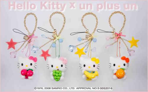 hello kitty x un plus un charms. more pictures at tokyofashion -angelieieiuhoh