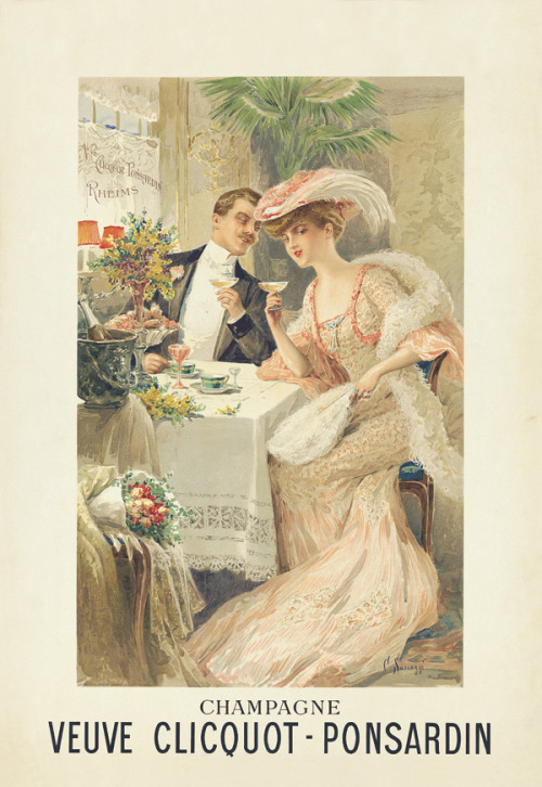 romanze:  Champagne advert, c.1903