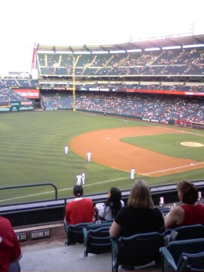 At the Angels game 2:   Nice view from the club level