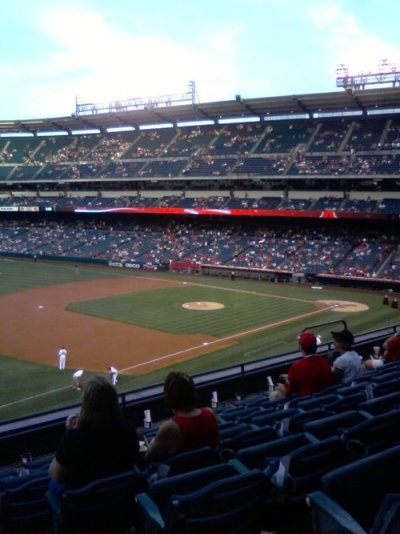 At the Angels Game 1:   Nice view from the club level
