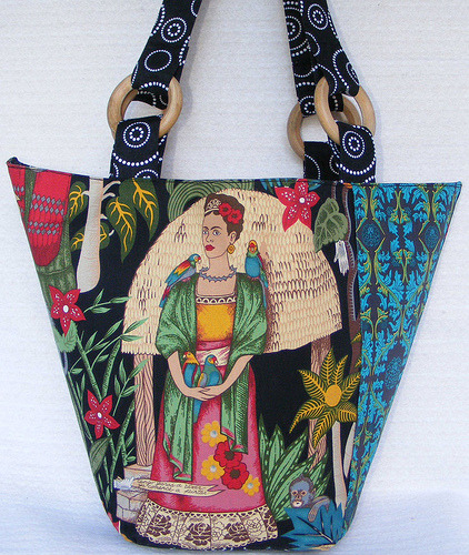 Frida Kahlo Purse fridakahlorocks:  Art To Wear shoulder bag via ArttoWearDiva see etsy store also here
