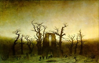 """The Abbey in the Oakwood"" by Caspar David Friedrich"