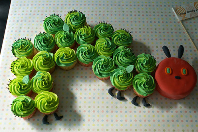 The Hungry Caterpillar Cupcakes ! i love this book :)