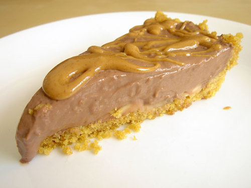 Chocolate and Triple Peanut Butter Pie