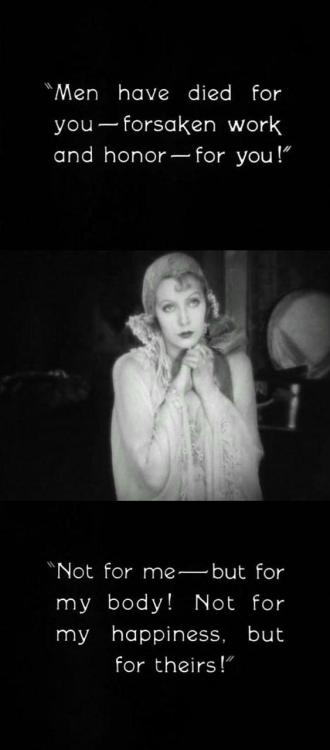 Stills from The Temptress (1926, dir. Fred Niblo, starring Greta Garbo) (click to enlarge)