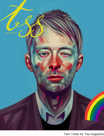 andreirobu:  Tosska.ru Great illustration of Thom Yorke.