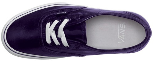 imaspeck:leather purple vans coming out feb. 2010.