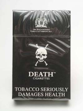 "faerienchanting:  apriliciate:  shimmerandrot: (via love-less)  the black death cigarettes were discontinued in 1995, it's a shame Something like these (named ""Death cigarettes"") are available in the Netherlands. They're generally sold alongside things called ""Pink Elephants"". They're the length of most filterless pre-rolled cigarettes or Ireland's favourite death-smoke, Majors. Both Death and the Elephants (Good band name) are incredibly noxious and, according to a friend who tried them, would put you off eating for 6 hours. Both are flavoured with vanilla, just to valiantly attempt to make them that little bit more attractive."