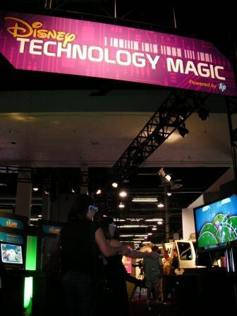 Having fun at the Disney Technology Magic booth — powered by HP — during D23. Annisa Mayhew and Heather Spohr were tearing it up playing the 3D version of Toy Story…
