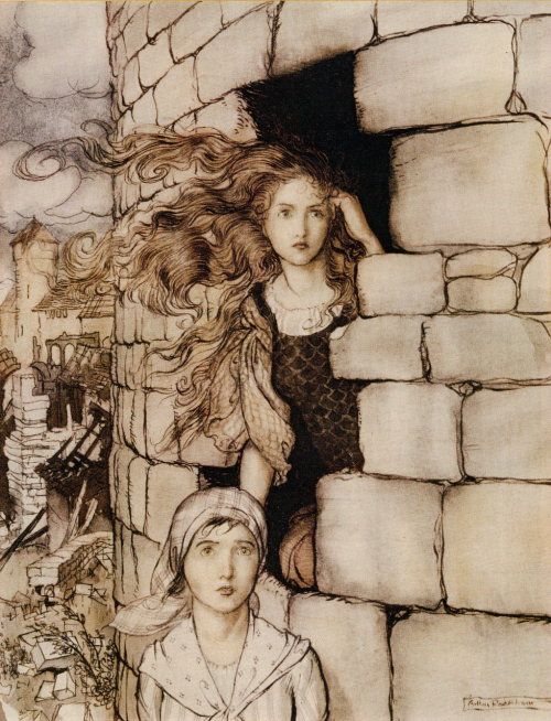 fairytalemood:  liquidnight:  Arthur Rackham Illustration from Maid Maleen